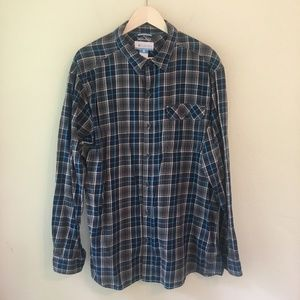 Columbia Omni-Wick Button Front Plaid Shirt